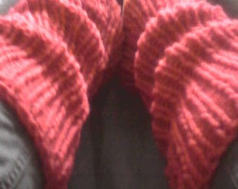 spats Burgundy 100% wool warm and durable
