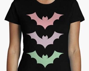 Bats t-shirt style pastel goth woman