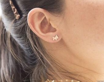14K Gold Filled Scotty Dog Stud Earrings, Scotty Dog Gold Earrings, Dog Lover Gift, Dog Jewelry, Gift for Her, Gift Under 15 Animal Earrings