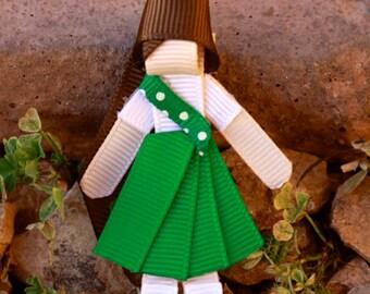 Green Scout Hair Clip