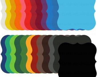 Bracket Labels Tags Frames Digital Clip Art Commercial Use