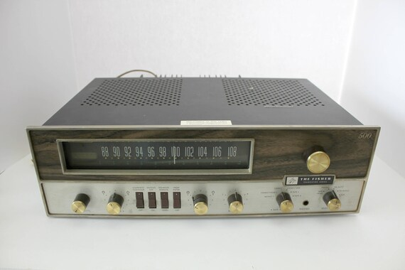Vintage Fisher 500-T Receiver 1960s Transistor Series, FM Stereo