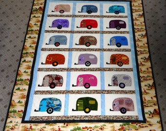 """Happy Campers -53""""X 70"""" -Quilt Pattern by Sew4Fun Australia -"""