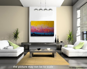 """no22 Palette knife - Original Large Abstract Modern Art Oil Painting - Michel Campeau 48''x60"""" - Made To Order"""