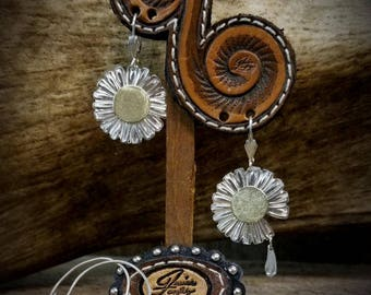 Custom Handmade Engraved Silver Jewelry
