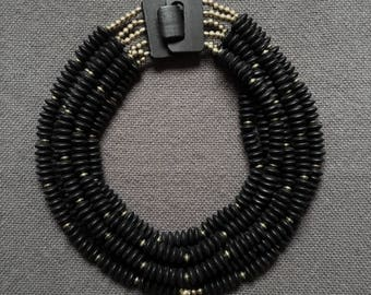 Tibetan style onyx necklace with an authentic Nepalese pendant