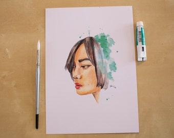 Sun Bak - Doona Bae - Sense8 Watercolour Portrait Print