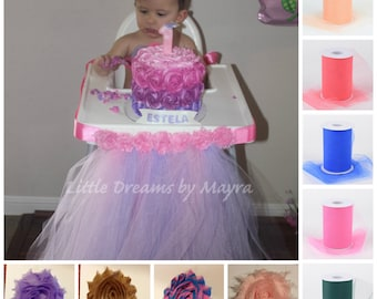 Smash the cake highchair tutu your choice of color - Smash the cake highchair cover - 1st birthday party