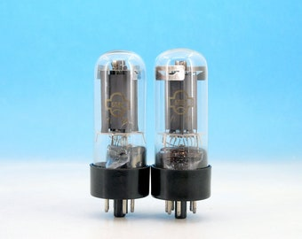 2x 6P3S 1975 & 1979 Reflector Output beam tetrode long life Soviet Russian Electrically Matched Vacuum Audio Audiophile Radio Tube Pair 6П3С