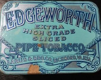 Vintage Edgeworth Extra High Grade Sliced Pipe Tobacco Tin -medium size- 1930's