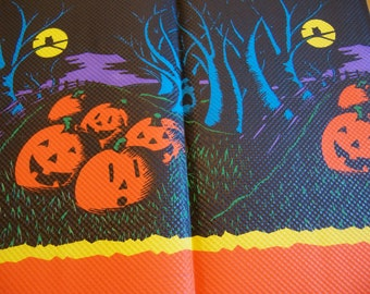 jack o lanterns paper table cover