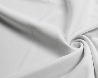 White 60'' Solid Stretch Scuba Knit Fabric by the Yard - Style 3044
