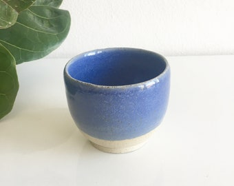Handmade ceramic cup - blue