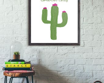 Can't Touch This art • Printable • Cactus Print • Home Decor • INSTANT DOWNLOAD FILE