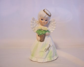 Adorable Little Girl August Angel Figurine