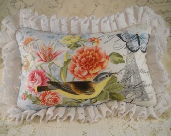 French Market Pillow Paris In Bloom Reversible