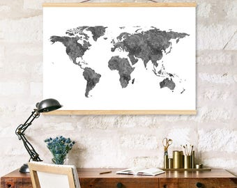 World map painting gold leaf art gold leaf painting world map canvas map canvas world map art black and white art gumiabroncs Gallery