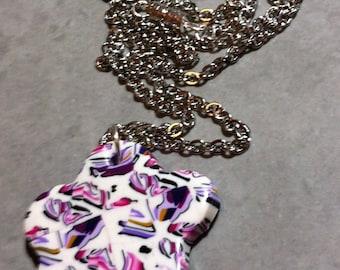 Variation Pink-Purple Flower necklace