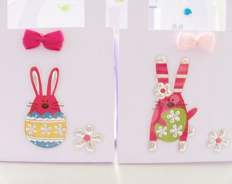 15 Bunny favour boxes -  birthday/baby shower/Easter favours - table decorations - baby shower bunny treat boxes - Easter themed decor