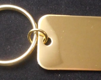 Brass Custom Key  Tag , Engraved