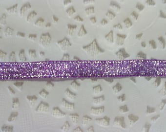 Silver Purple Ribbon width 0.7 mm for your creative activities