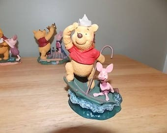 Disney Store's Simply Pooh Collection figurine Adventures are More Fun with Two! Piglet Winnie The Pooh