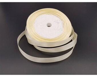 22 m 6mm beige satin ribbon