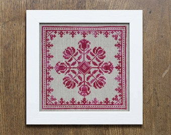 Biedermeier Bouquet - Instant Download PDF cross-stitch embroidery pattern