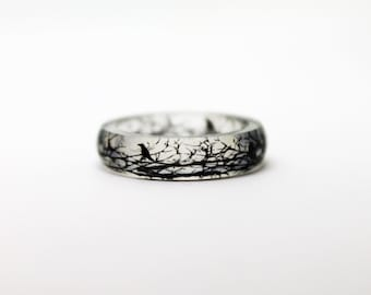 Gothic Ring - Inspirational Ring - Inspirational Jewelry - Raven ring - Raven Jewelry - Crow Ring - Gothic Jewelry