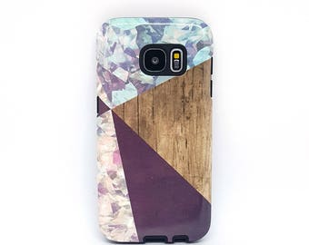For Samsung Galaxy Cases, for s8 phone case, for tough galaxy s7 case, for tough galaxy s6 case, for tough galaxy s5 case - Wood Geometric