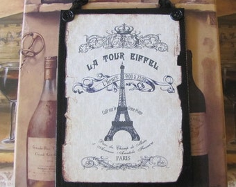 French Decor Sign, French Country Decor, Paris Decor, Shabby Chic, French Bedroom Decor