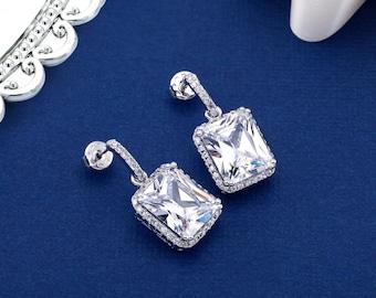 Bridal Earrings, Crystal Bridal Earrings, Wedding Earrings, Chandelier Earring, Pearl Bridal Earring, Swarovski Earrings, SparkleSM, Colette