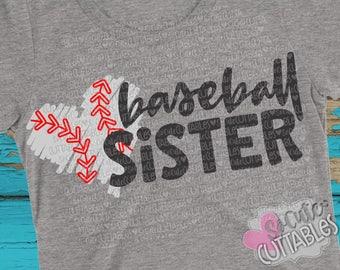 Baseball sister SVG, Basbeball svg design, little sister SVG, live love baseball svg, baseball cut file, baseball sis svg, SoCuteCuttables
