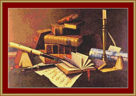 Music And Literature Cross Stitch Pattern /Digital PDF Files /Instant downloadable