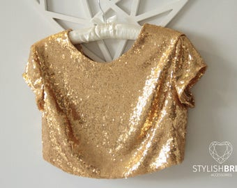 9 colors Gold SEQUIN TOP, gold sequin top, party top, sequined top, New Year's sequined top, Bridesmaids blouse, Bridesmaids sequin top