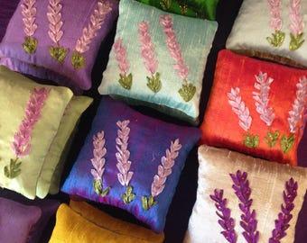 Silk-Embroidered Sachet