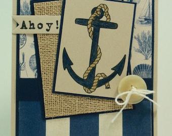 Greeting Card, Birthday Card, All Occasion Card, Masculine Card, Card, Nautical Card, Nautical