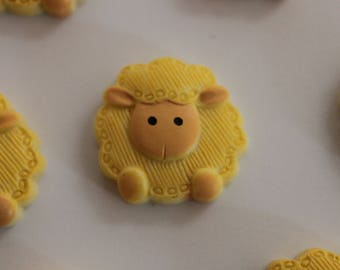 pretty little yellow and beige sheep