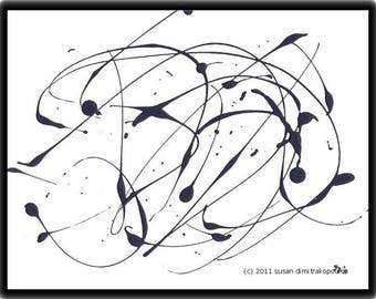 Auraya sofortigen Download druckbare Imag digitales Bild abstrakte minimalistische Wand Wohnkultur Büro Dekor abstrakten print schwarz und weiß Kunst