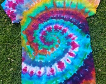 One of a kind rain dye tshirt