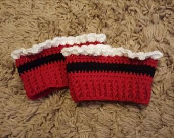 Crochet Santa Boot Cuff Pattern