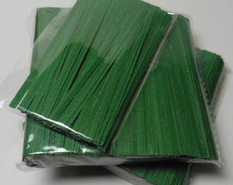 200 pcs 4 in Paper Twist Ties for cello bags - Green