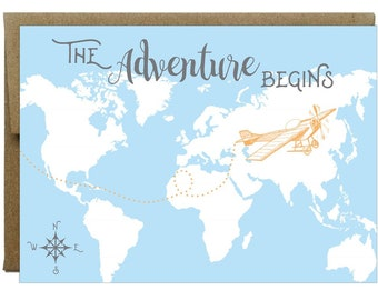 Adventurous Greeting Card | Graduation, Travel, New Beginnings, Wedding Wishes to Bride and Groom, New Job