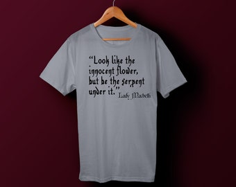 Lady Macbeth quote graphic tee