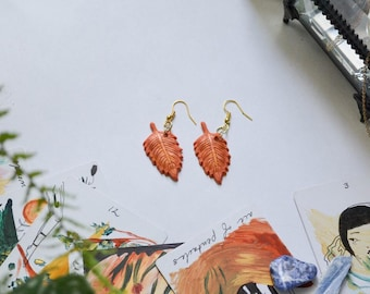 Fall Leaves Polymer Clay Earrings
