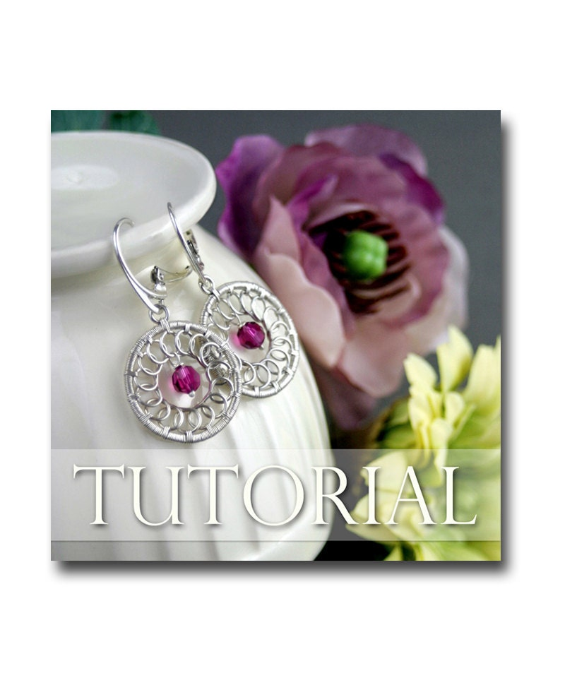 Onestep Earrings: Circle Earrings Wire Wrapping Jewelry Making Lesson Step By