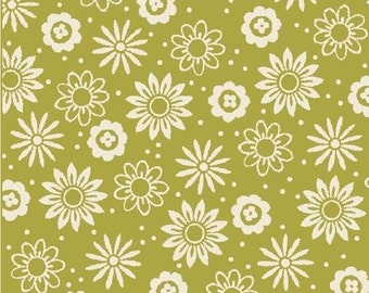 """Floral Fabric: So Chic GREEN-POSEY TOSS fabric by Waverly for Quilting Treasures   100% cotton fabric by the yard  36""""x44"""" (QT475)"""