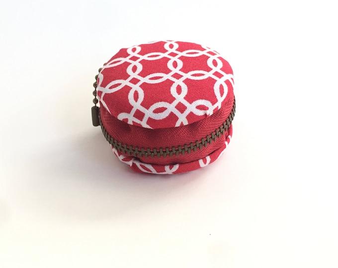 Red Macaron coin purse