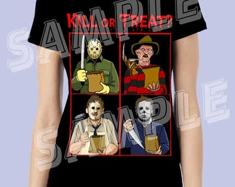 Kill Or Treat - Ladies Tee - By Artist AJ Moore