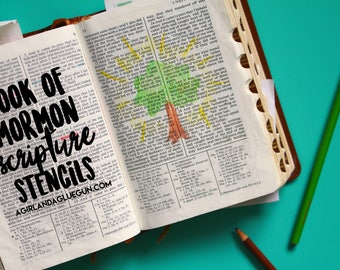 Book Of Mormon Scripture Stencils patterns